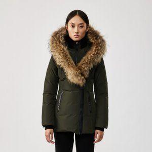 MACKAGE Adali Olive Green Down Coat